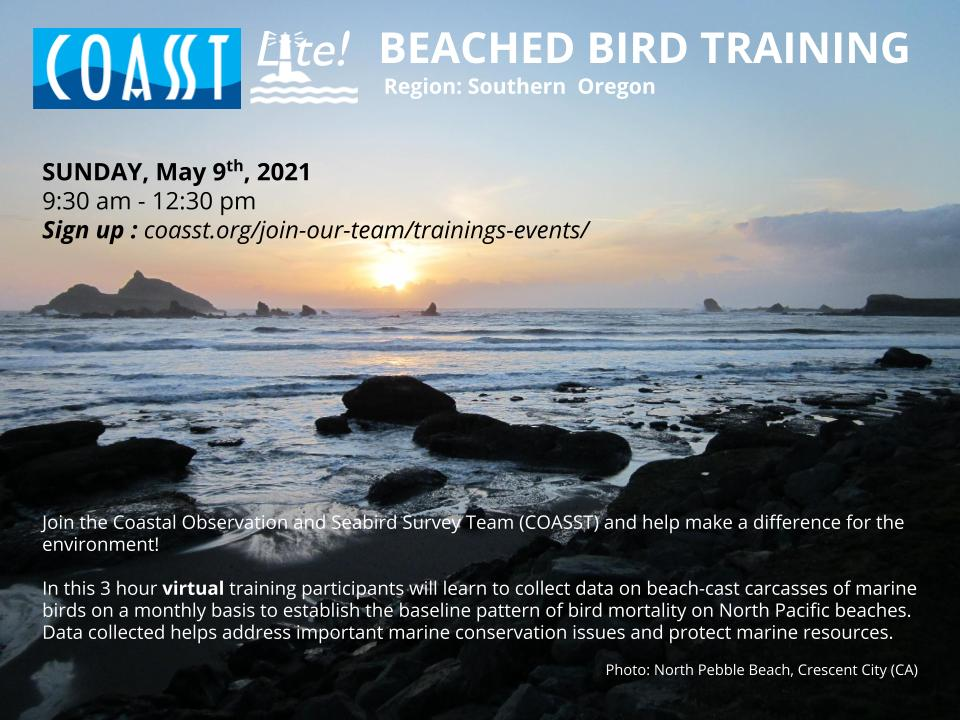 COASSTLite! Virtual Training Sessions for Oregon (May)