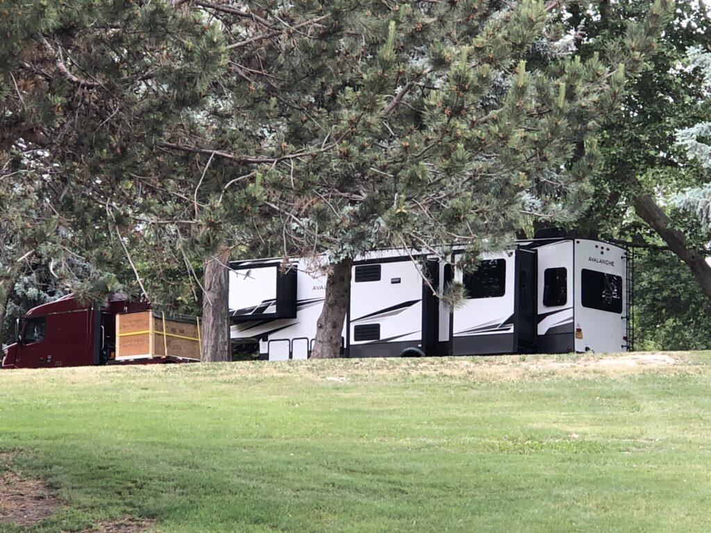 535 miles from Gold Beach Oregon. Charbonneau Park on Lake Sakajawea near the Tri Cities WA